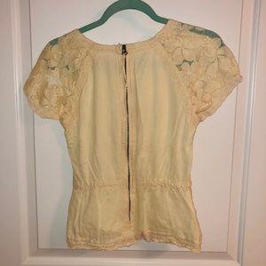 Chelsea & Violet Tops - Feminine Detailed Ivory Shirt